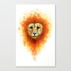 Gesture Lion with Mane Canvas Print