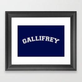 Gallifrey College Logo Framed Art Print