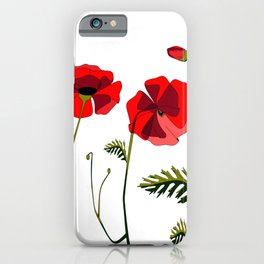 Poppies Ascending (transparency) iPhone Case