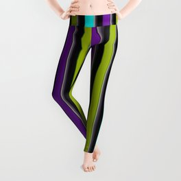 VERTICAL Retro Candy Stripe Leggings