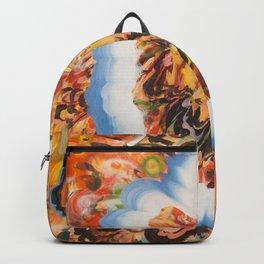 Portrait in Blue Backpack