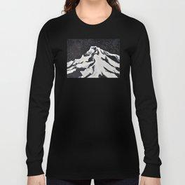 Mount Hood and Stars Long Sleeve T-shirt