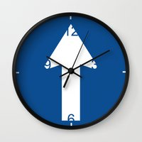 wall clock Wall Clocks featuring Obligation Wall Clock by lllg