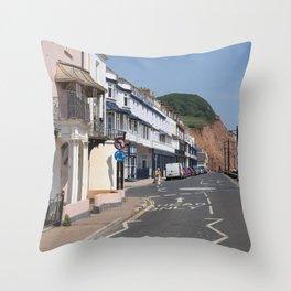 Sidmouth Esplanade  Throw Pillow