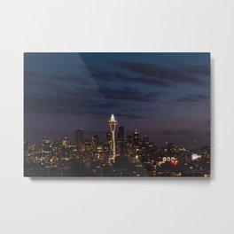 Seattle Night  Metal Print