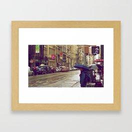 One Day in SOHO Framed Art Print
