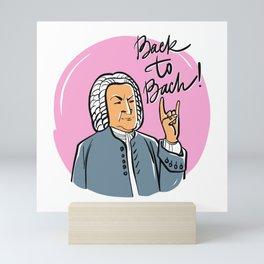 Back to Bach (pink background) Mini Art Print