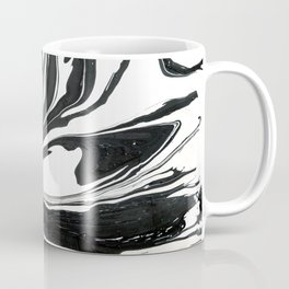 Black ink marble Coffee Mug