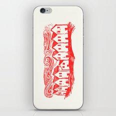 Sad Row (Red) iPhone & iPod Skin