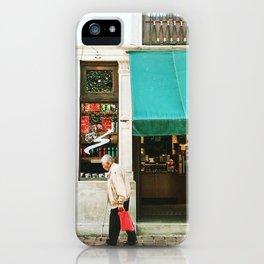 Grandpa walking in front of Starbucks in Guanajuato, Mexico iPhone Case