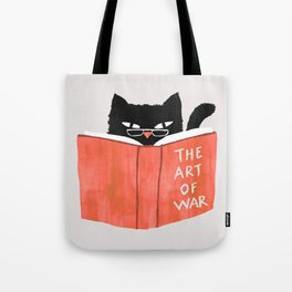 Cat reading book Tote Bag