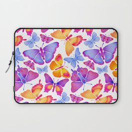Colorful Butterfly Watercolor Laptop Sleeve