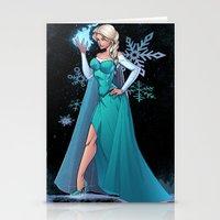 frozen elsa Stationery Cards featuring Frozen - Elsa by J Skipper