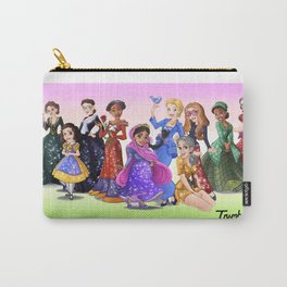 """Ten Real-World Princesses Who Don't Need Disney Glitter"" Trumble Cartoon Carry-All Pouch"