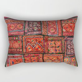 V5 Red Traditional Moroccan Design - A3 Rectangular Pillow