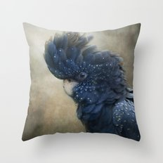 Black Cockatoo no 1 Throw Pillow