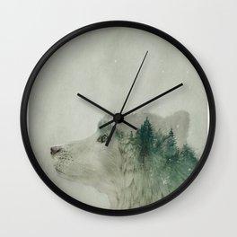 Light Wolf Wall Clock