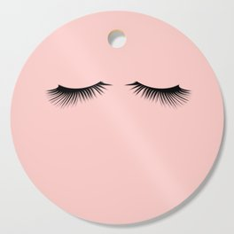 pink eyelashes Cutting Board