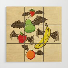 Fruit Bats Wood Wall Art