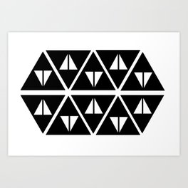 Triangular Triangles Art Print