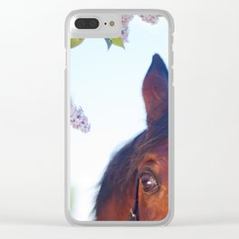 eye of horse. horse collection Clear iPhone Case