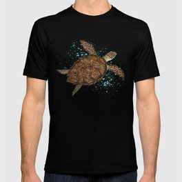 """Hawksbill Sea Turtle"" by Amber Marine ~ Watercolor & Sea Salt Painting, (Copyright 2016) T-shirt"
