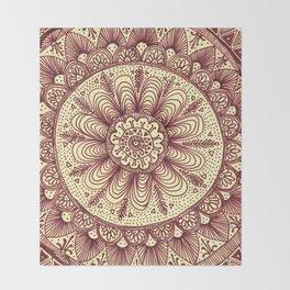 mandala: maroon Throw Blanket