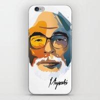 hayao miyazaki iPhone & iPod Skins featuring Miyazaki by zero Bounty