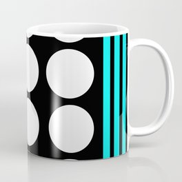 Desing pattern black and white followed by Tuerkies Coffee Mug