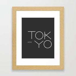 Tokyo. Framed Art Print