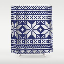 Winter knitted pattern 2 Shower Curtain