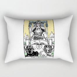 Geometric Tarot Print - The Chariot Rectangular Pillow