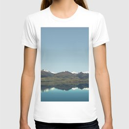 Blue reflections of mountains T-shirt