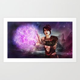 Dragon Age Morrigan Magic Print Art Print