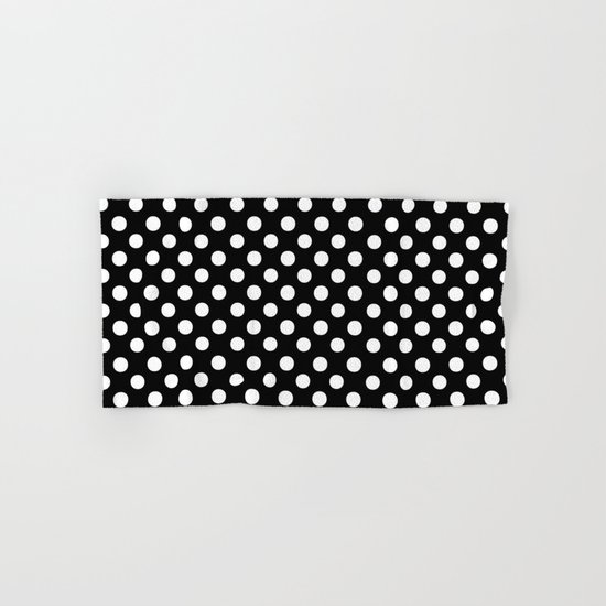 Polka Dots (White/Black) Hand & Bath Towel