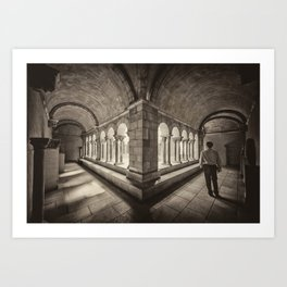Exploring Cloisters Art Print