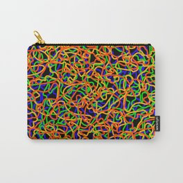 Random colored tangled ropes and gold lines. Carry-All Pouch
