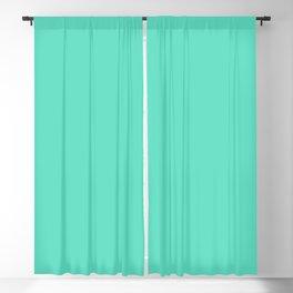 Aqua Blue Solid Color Blackout Curtain