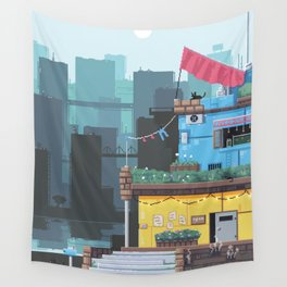 The Cat's Diner Wall Tapestry