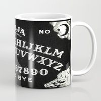 ouija Mugs featuring ouija  by Clelia Bloo
