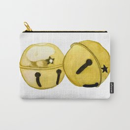 Gold Jingle bells Carry-All Pouch