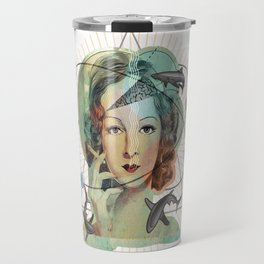 Ms Magritte's Brain Travel Mug
