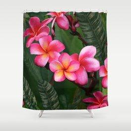 Hawaiian Sunrise Plumeria Shower Curtain