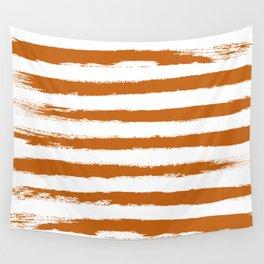 Autumn Maple STRIPES Handpainted Brushstrokes Wall Tapestry