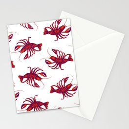 Le Lobster Rouge Stationery Cards
