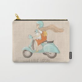 I love Vespa Carry-All Pouch