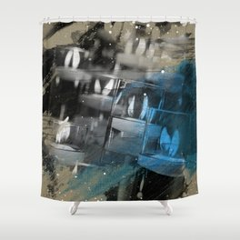 Flickering Lights Shower Curtain