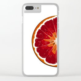 Orange print Clear iPhone Case