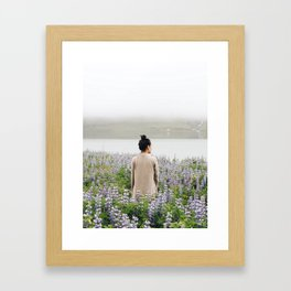 LUPINE FIELDS - Iceland Photography Framed Art Print