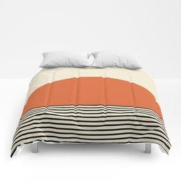 Sunrise / Sunset I - Orange & Black Comforters